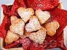 Рецепта Ванилови курабийки с формата на сърца